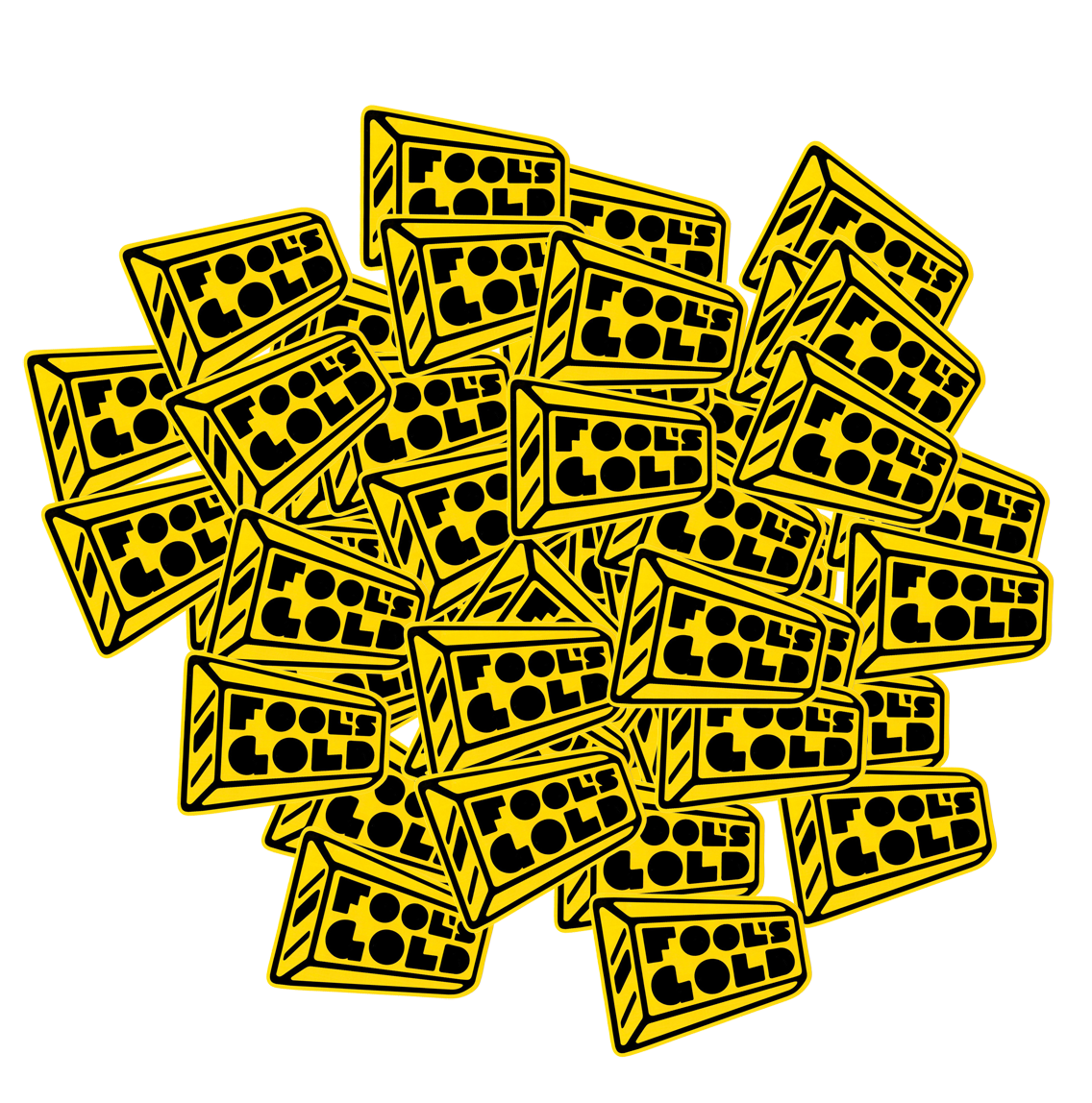 free fools gold stickers