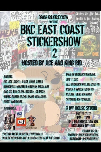 NYC sticker show